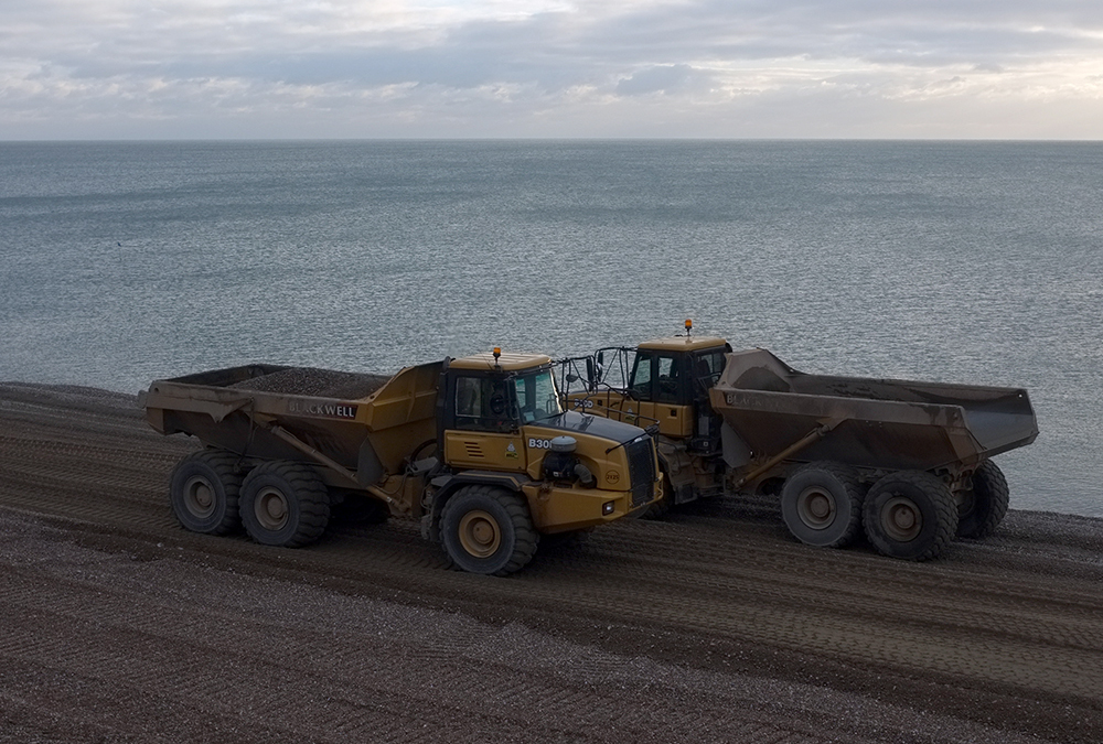 Seaford Seashore Shingle Shovelled