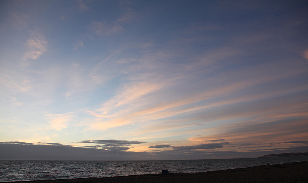 Seeing Seaford's Sunset on the Sea Shore