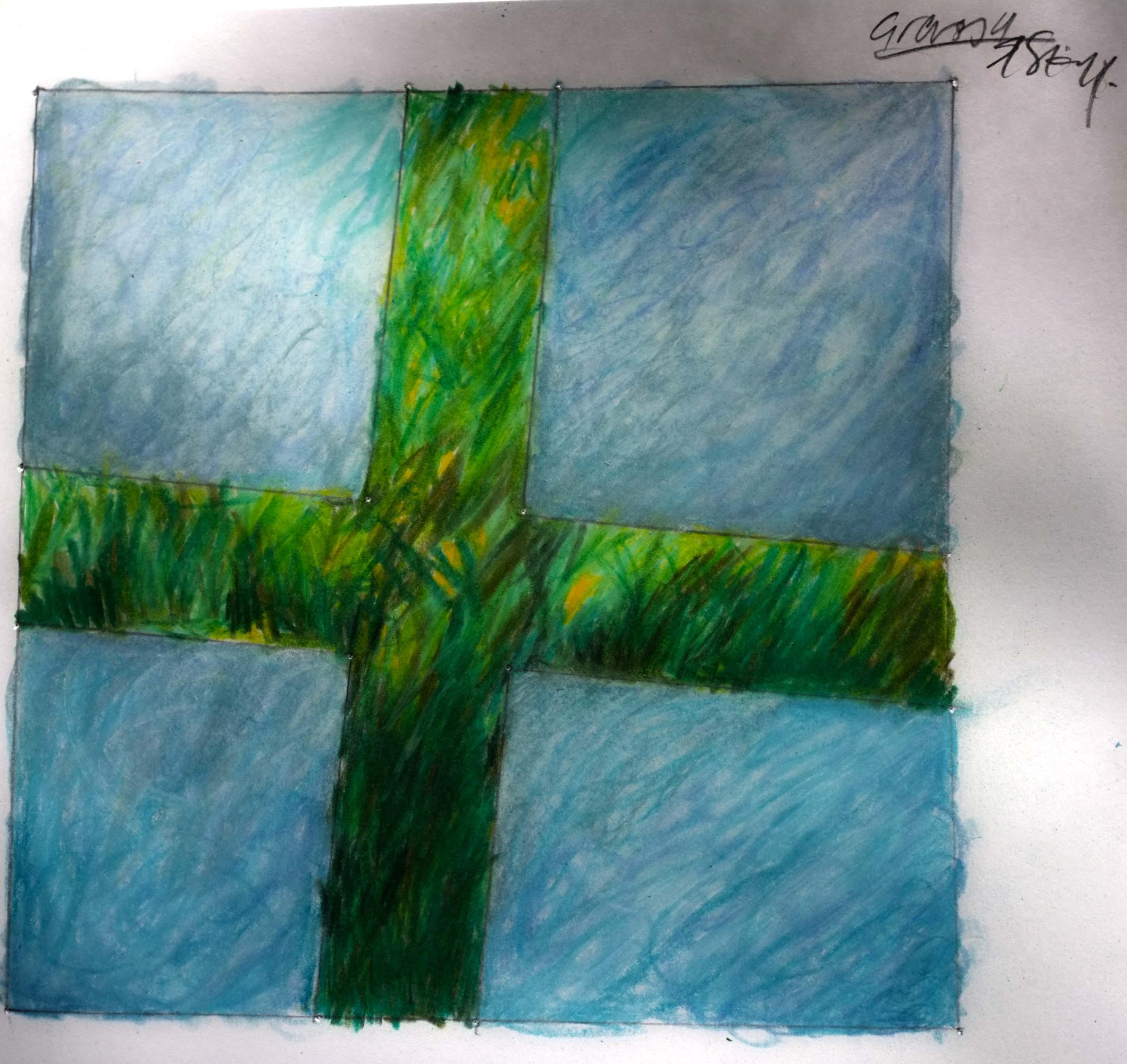 Graden drawing 2 grass and sky DSCF3570