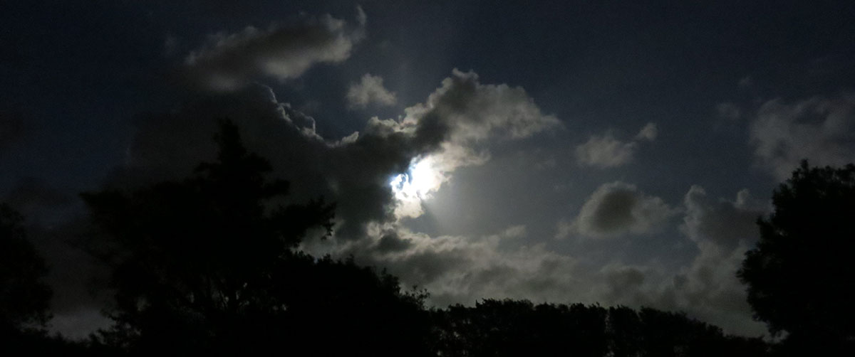 It is possible to think into a dark place, light hidden in clouds, a battle to move forward