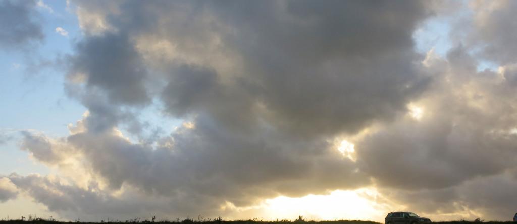 Light breaks over the horizon