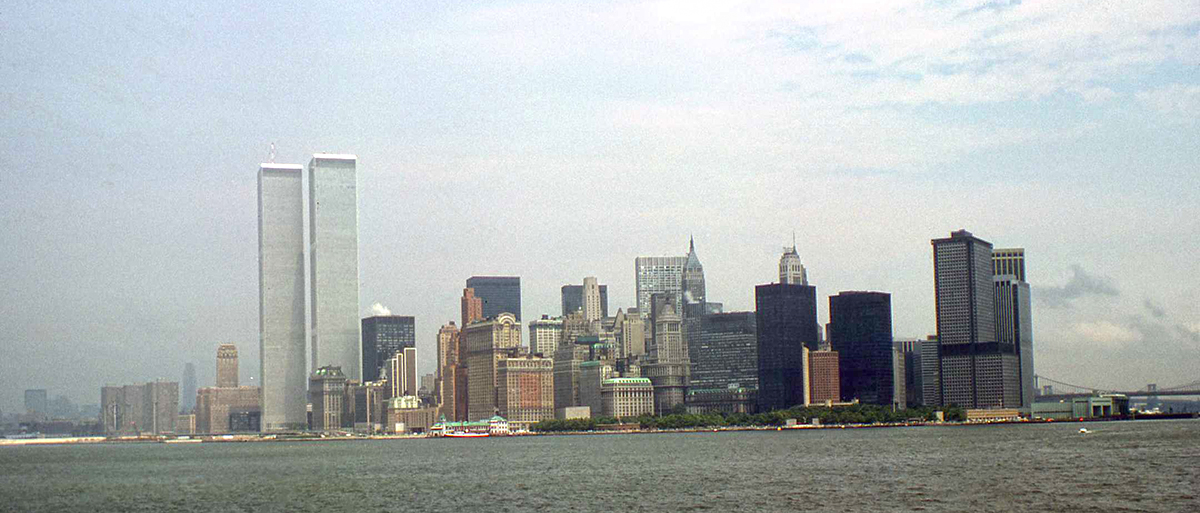 Manhattan skyline in 1976