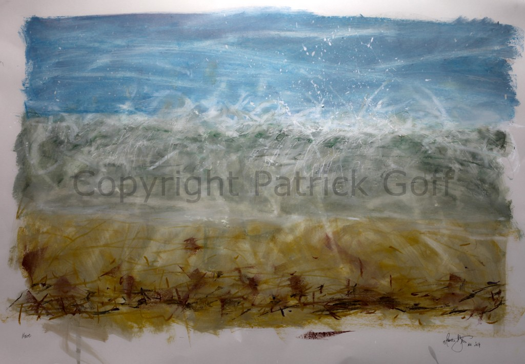 Breaking Wave - the drawing gives name to the exhibition