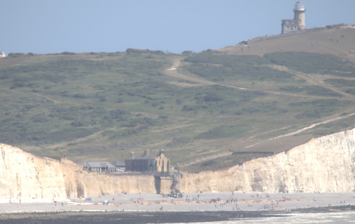 Looking across to the stairs at Birling Gap, where 3 metres of cliff were eroded last year