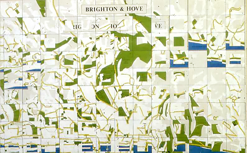 Memory map of Brighton - this one just about reading space