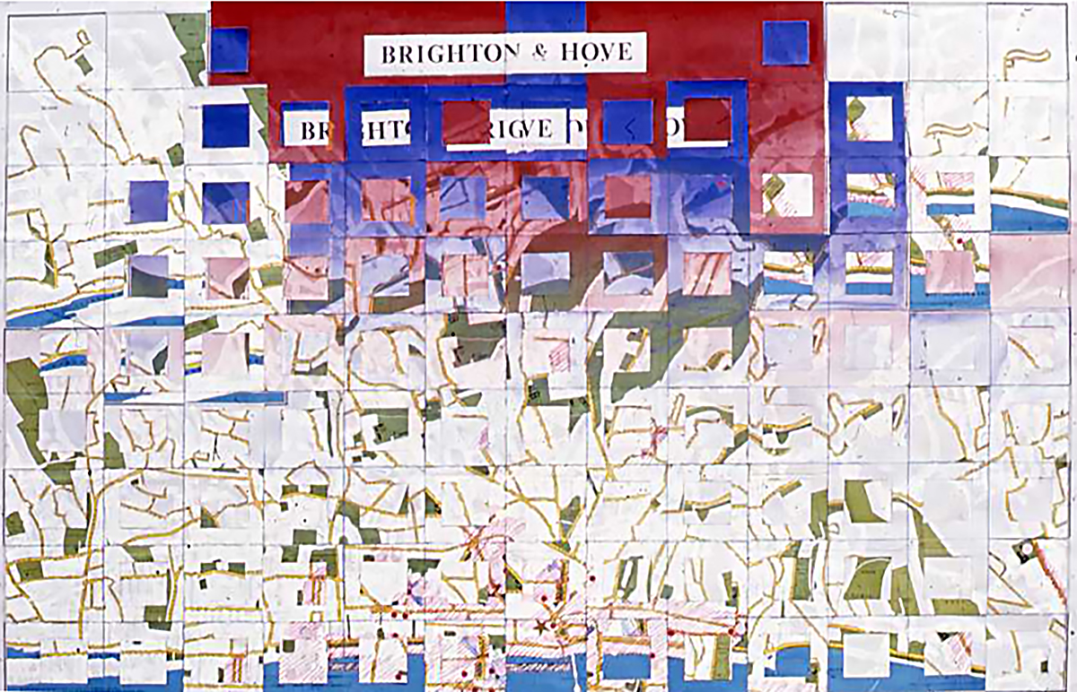 Memory map of Brighton. Events are coded and then collaged, Playing with how we read images, art as language. Want your own memory map? I accept commissions....