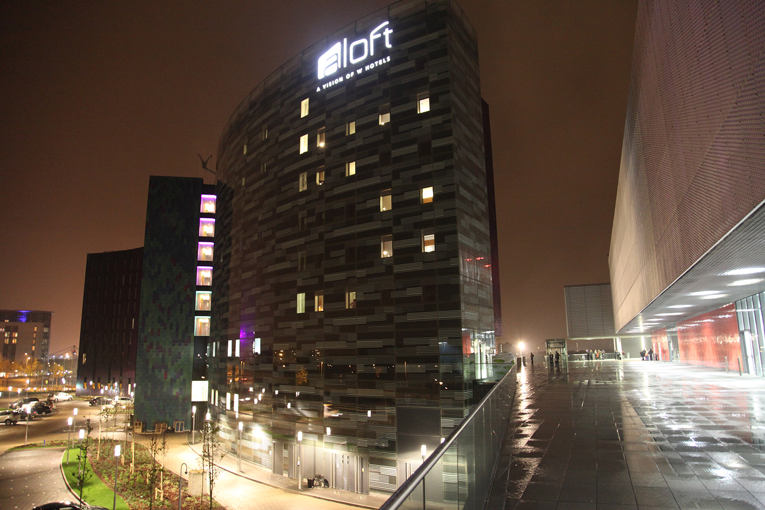 typical of my hotel snapshots., the A-loft in London's Docklands at its opening