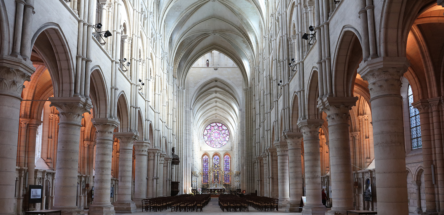 The stunning cathedral seems to attract school children's graffiti to its stone columns