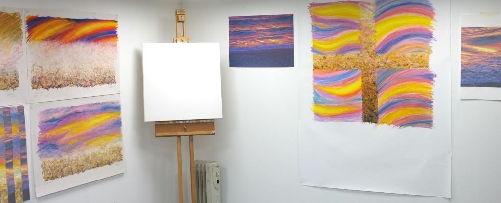 One corner of hte studio