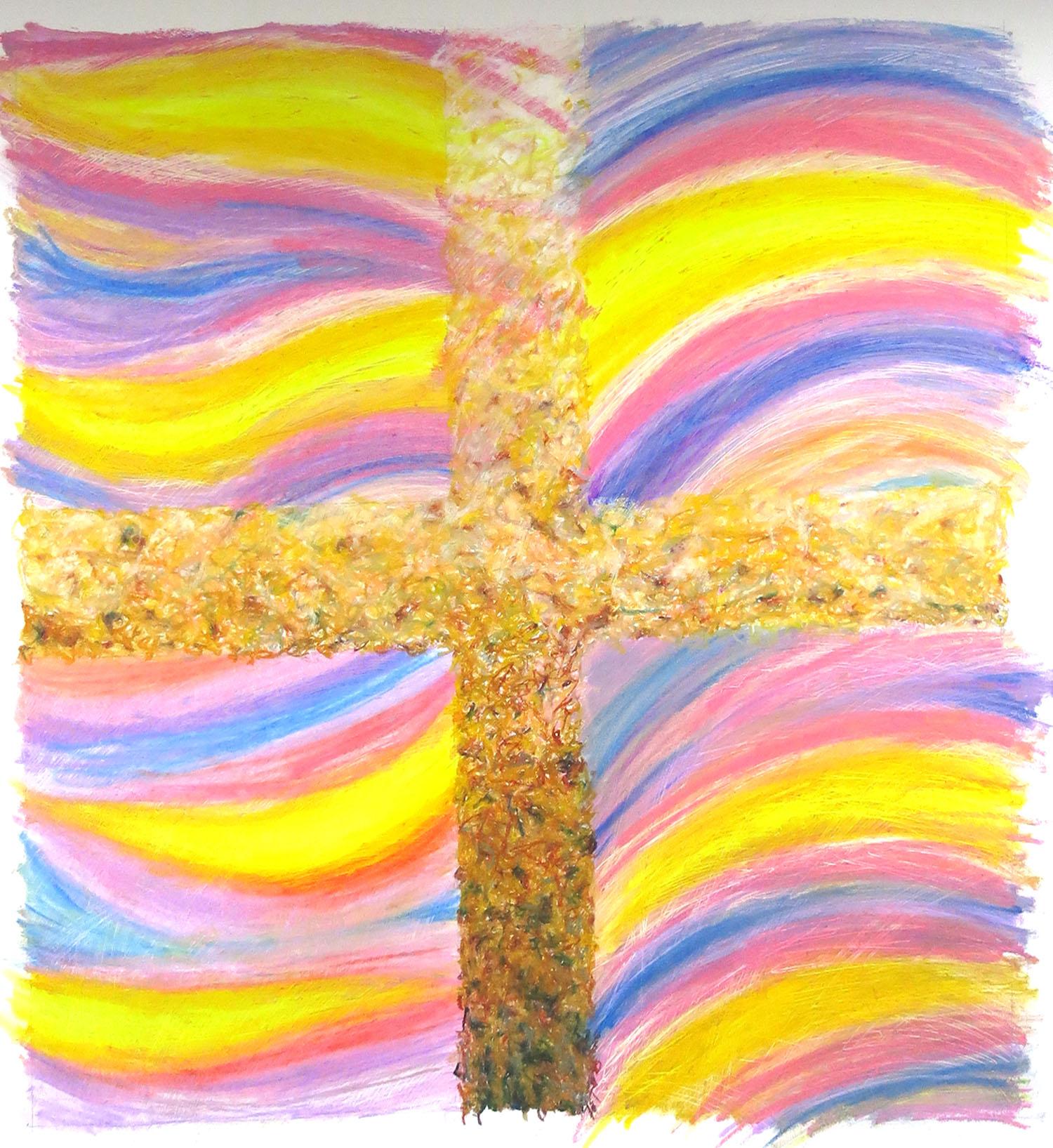 Oil pastel on Bockingford 36 inches square