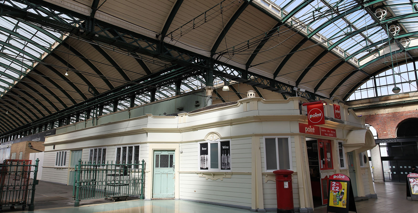 Railway station restored
