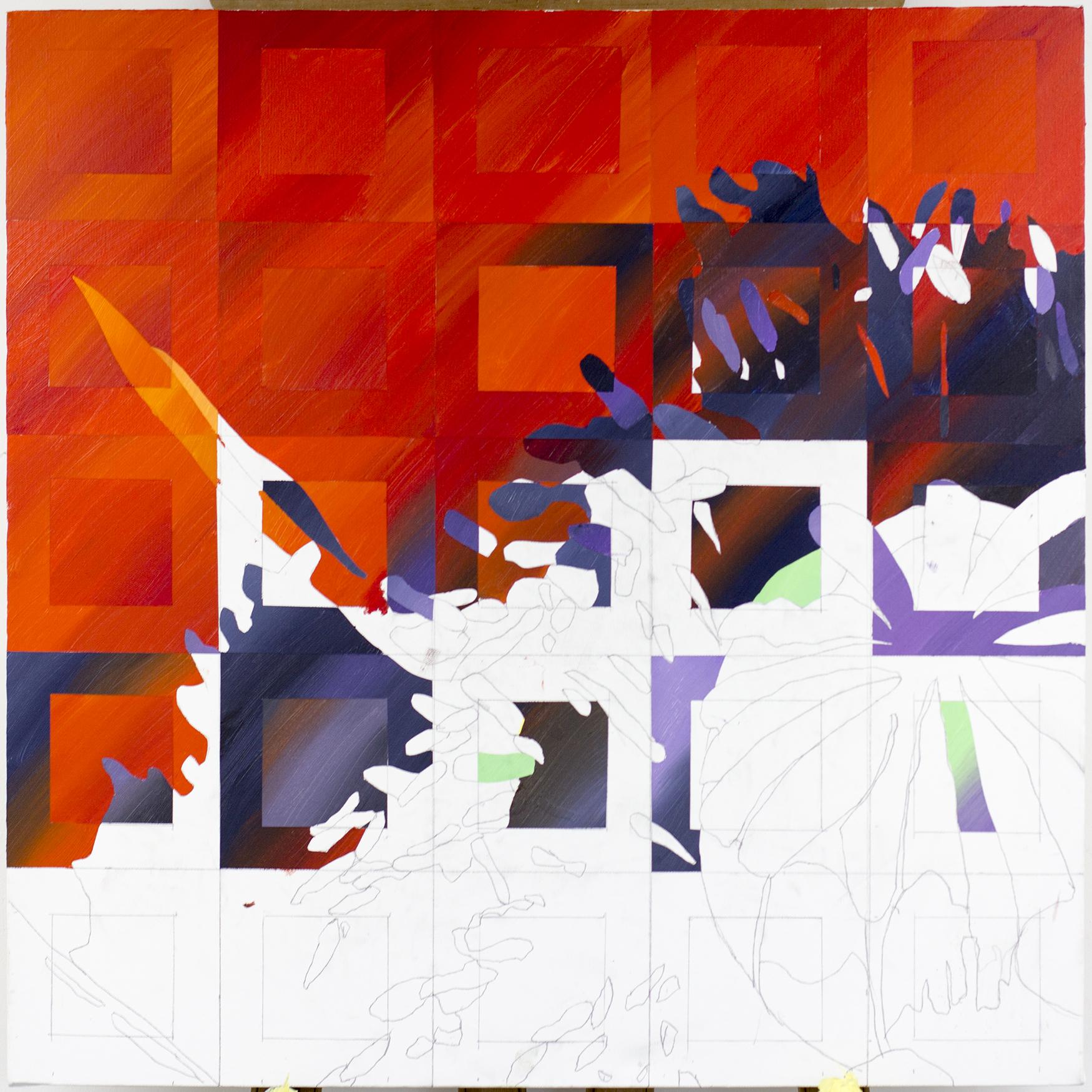 Poppy painting progress day 2 003