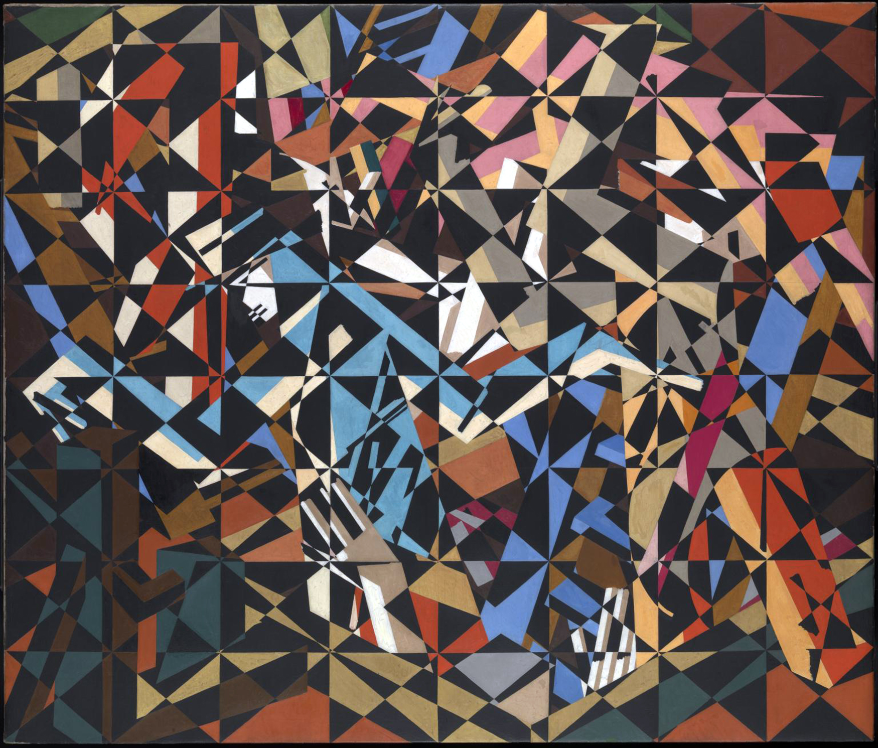 In the Hold c.1913-4 David Bomberg 1890-1957 Presented to the Tate by the Friends of the Tate Gallery 1967, and one of my favourite paintings