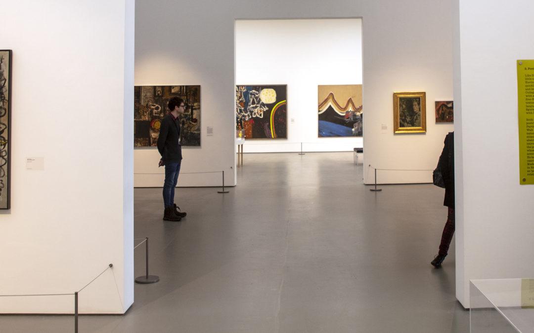 Hockney, Davie and Helen Kapp at the Towner